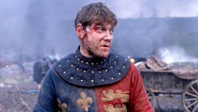 PHOTO: British actor Kenneth Branagh on location in Sussex during filming the Agincourt battle scene of Henry V.