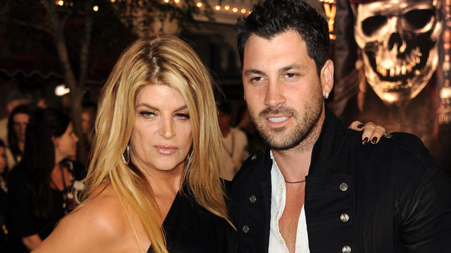"PHOTO: Kirstie Alley strikes a pose with former ""Dancing With the Stars"" partner Maks Chmerkovskiy."