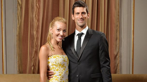 gty Novak Djokovic Jelena Ristic engaged thg 130926 16x9 608 Tennis Star Novak Djokovic Engaged to Girlfriend Jelena Ristic