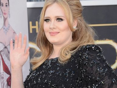PHOTO: Singer Adele arrives at the Oscars at Hollywood & Highland Center in Hollywood, Calif., Feb. 24, 2013.