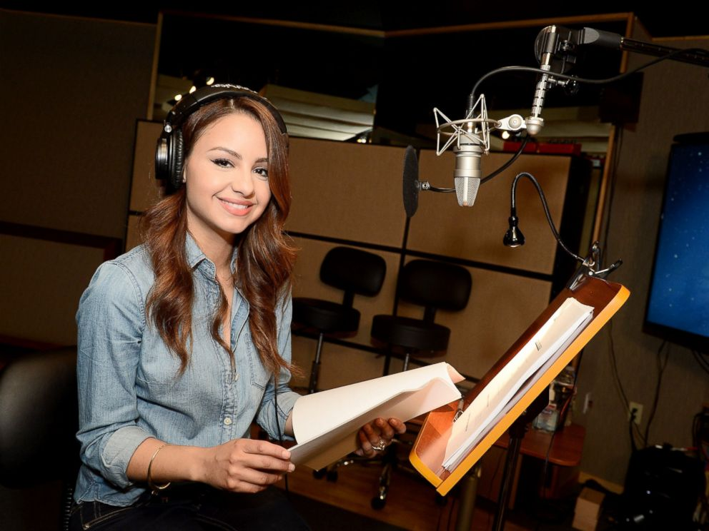 PHOTO: Aimee Carrero of the Disney Channels, Elena of Avalor is pictured in a recording studio, Jan. 26, 2016.