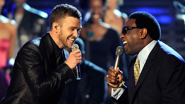 PHOTO: Singers Justin Timberlake, left, and Al Green perform during the 51st Annual Grammy Awards held at the Staples Center, Feb. 8, 2009 in Los Angeles.