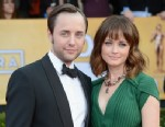 PHOTO: Vincent Kartheiser and Alexis Bledel arrive at the 19th Annual Screen Actors Guild Awards at The Shrine Auditorium, Jan. 27, 2013, in Los Angeles, Cali