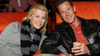 PHOTO: Actress Alison Sweeney and her husband Dave Sanov attend a private screening at the newly launched Gold Class Cinemas, Dec. 6, 2009 in Pasadena, California.