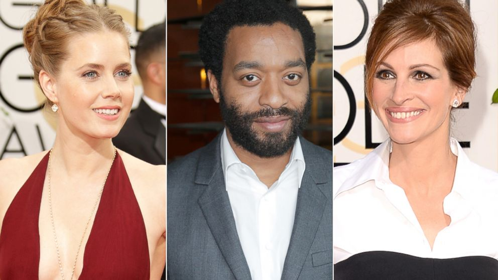 PHOTO: Amy Adams, Chiwetel Ejiofor and Julia Roberts are seen in these Jan. 2014 file photos.