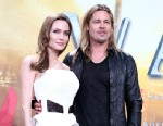 "PHOTO: Angelina Jolie and Brad Pitt attend the ""World War Z"" Germany premiere, June 4, 2013, in Berlin, Germany."