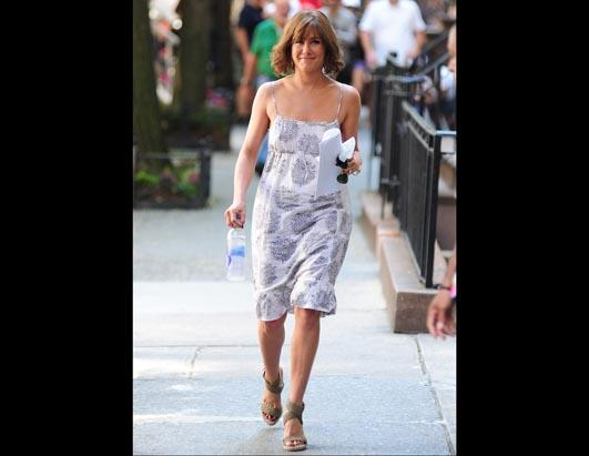 Jennifer Aniston Films In New York City