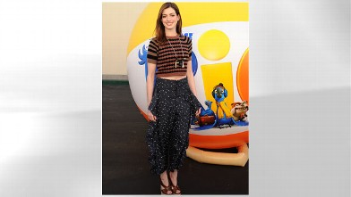 "PHOTO: Anne Hathaway attends 20th Century Fox press day For ""RIO"" at Zanuck Theater at 20th Century Fox Lot, Jan. 28, 2011 in Los Angeles, California."