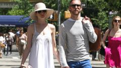 Anne Hathaway Beats the Heat with Her Husband