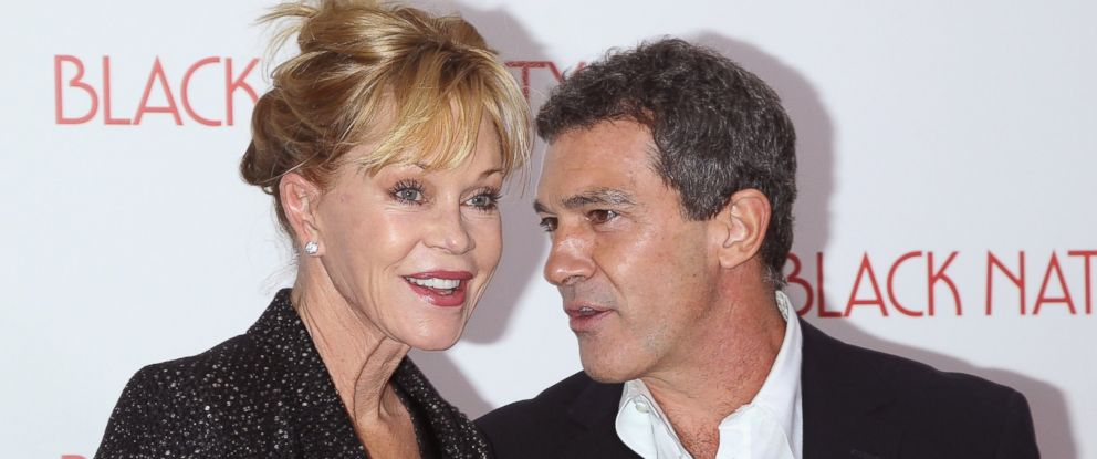 "PHOTO: Melanie Griffith and Antonio Banderas attend the ""Black Nativity"" premiere at The Apollo Theater, Nov. 18, 2013 in New York."