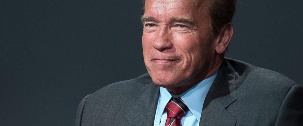 """PHOTO: Arnold Schwarzenegger attends Apple Store Soho Presents Tribeca Film Festival: Henry Hobson and Arnold Schwarzenegger, """"Maggie"""" at Apple Store Soho on April 22, 2015 in New York City."""