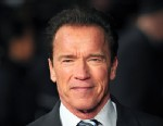 "PHOTO: Actor Arnold Schwarzenegger poses for pictures as he arrives to attend the European premiere of ""The Last Stand"" in central London on Jan. 22, 2013."