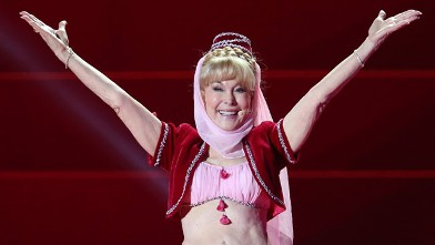 PHOTO: Barbara Eden performs during the 'Life Ball 2013 - Show' at City Hall on May 25, 2013 in Vienna.