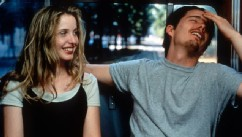 PHOTO: Julie Delpy and Ethan Hawke enjoying each others company in a scene from the film 'Before Sunrise', 1995.