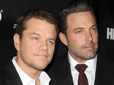 PHOTO: Matt Damon and Ben Affleck attend a Project Greenlight event on Nov. 7, 2014 in Hollywood, Calif.