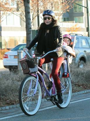 Bethenny Frankel and Bryn's Adorable Biking Date