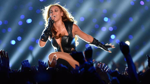 PHOTO: Beyonce performs during the Pepsi Super Bowl XLVII Halftime Show at Mercedes-Benz Superdome, Feb. 3, 2013, in New Orleans.