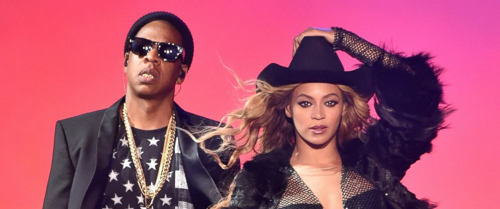 PHOTO: Beyonce and Jay-Z perform at Minute Maid Park on July 18, 2014 in Houston, Texas.