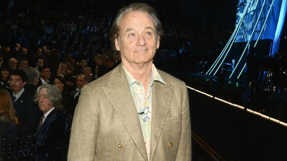 PHOTO: Actor Bill Murray at Barclays Center of Brooklyn on April 10, 2014 in New York City.