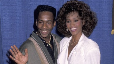 PHOTO: Bobby Brown and Whitney Houston at UNCF 46th Annual Dinner Awards, March 8, 1990.