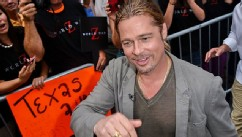 Brad Pitt and Fans Before 'GMA' Taping