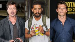 Brad Pitt appears in Bovington, England on Aug. 28, 2014, Shia Labeouf is seen on Sept. 10, 2014 in New York City, and Scott Eastwood attends a premier on March 19, 2014 in Los Angeles, Calif.