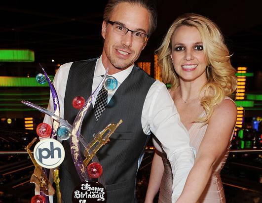 Jason Trawick and Britney Spears celebrate their engagement at Planet Hollywood Resort & Casino on December 16, 2011 in Las Vegas, Nevada.