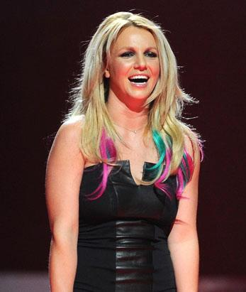 Britney Spears' Rainbow Mane