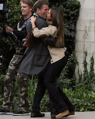 Sorry, Cash: Jessica Alba Kisses Pierce Brosnan