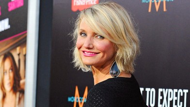 PHOTO: Actress Cameron Diaz arrives at the Los Angeles Premiere &quot;What To Expect When You're Expecting&quot;, May 14, 2012 in Hollywood, California.