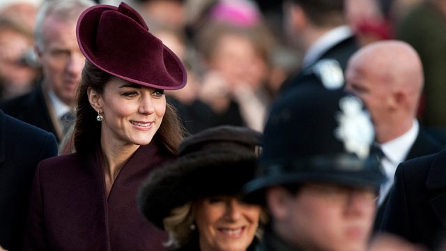 PHOTO: Catherine, the Duchess of Cambridge, arrives to attend the Royal family Christmas Day church service at St Mary Magdalene Church in Sandringham, Norfolk, eastern England, Dec. 25, 2011.
