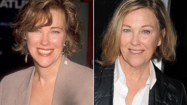 PHOTO: Catherine OHara is seen in this 1990 file photo, left, and attending a premiere in Los Angeles on Sept. 30 2013.