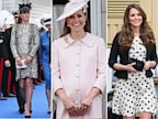 PHOTO: Here is a look at some of Kate Middletons maternity fashion trends.