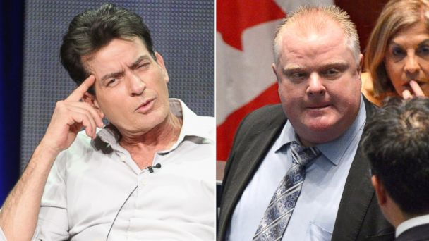 gty charlie sheen rob ford ll 131114 16x9 608 Charlie Sheen Offers Rob Ford His Steady Hand