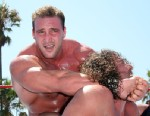 "PHOTO: Chris Masters, left, competes during ""WWE Takes Over Venice Beach,"" Aug. 18, 2007 in Los Angeles, Calif."
