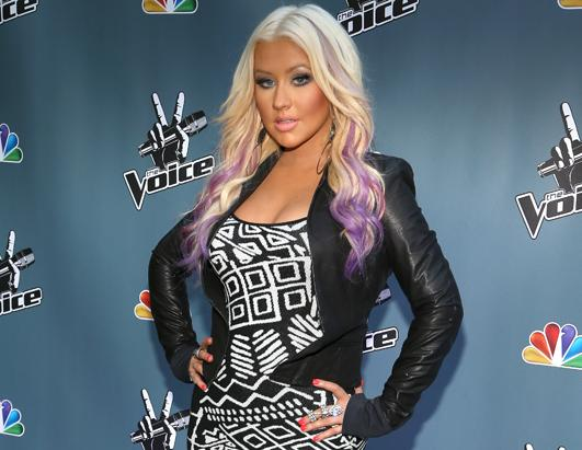 Christina Aguilera's Purple Locks