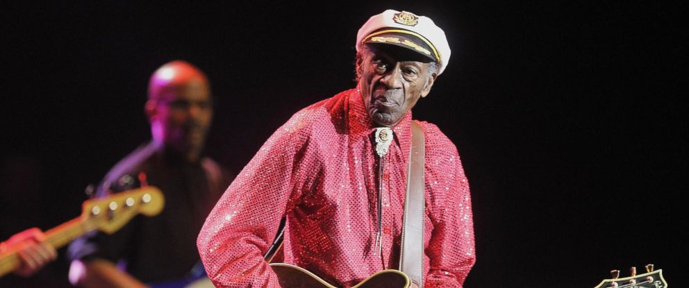 PHOTO: Chuck Berry performs at Crocus City Hall, April 14, 2014, in Moscow, Russia.