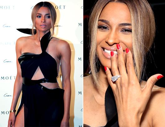 Ciara Flashes Her Giant Sparkler