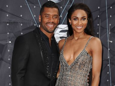 PHOTO: Russell Wilson and Ciara attend the 2015 BET Awards at the Microsoft Theater on June 28, 2015 in Los Angeles.