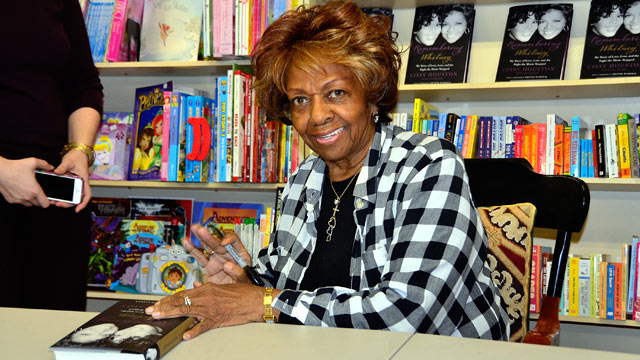 "PHOTO: Cissy Houston signs copies of her new book ""Remembering Whitney"" at Bookends on January 31, 2013 in Ridgewood, New Jersey."