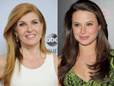 PHOTO: Connie Britton, seen left at the ABC TCA Winter Press Tour party on Jan. 17, 2014 in Pasadena, Calif. and Katie Lowes, seen right at the Entertainment Weekly SAG Awards on Jan. 17, 2014 in Los Angeles, Calif.
