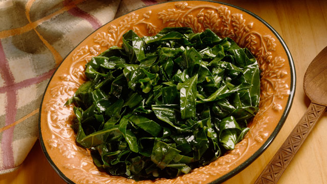 PHOTO: Cooked greens are believed to bring money in the new year.
