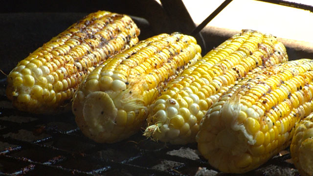 PHOTO: Chef John Stage of Dinosaur Bar-B-Que in New York shares his recipe for grilled romano corn.