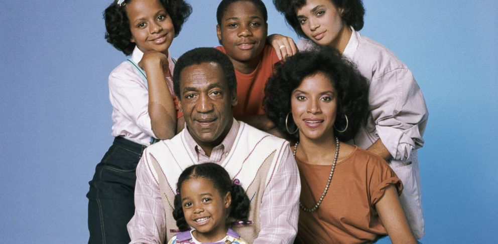 PHOTO: Tempestt Bledsoe as Vanessa Huxtable, Malcolm-Jamal Warner as Theo Huxtable, Lisa Bonet as Denise Huxtable, Phylicia Rashad as Clair Hanks Huxtable, Keshia Knight Pulliam as Rudy Huxtable, Bill Cosby as Dr. Cliff Huxtable from The Cosby Show.