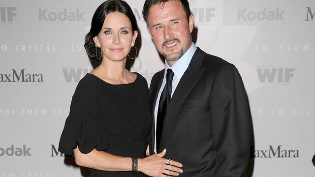 PHOTO: Honoree Courteney Cox Arquette and actor David Arquette arrive at the 2010 Crystal + Lucy Awards: A New Era at Hyatt Regency Century Plaza,Century City, CA, June 1, 2010.