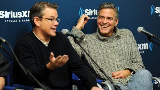 gty damon clooney kb 140505 16x9 608 Matt Damon on Pal George Clooneys Engagement