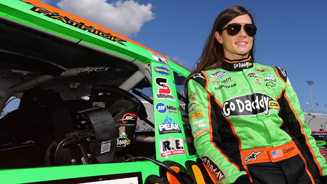 PHOTO: Danica Patrick, driver of the #7 GoDaddy.com Chevrolet, stands on pit road during qualifying for the NASCAR Nationwide Series Great Clips 200 at Phoenix International Raceway, Nov. 10, 2012 in Avondale, Arizona.