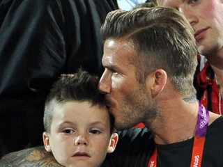 Photos: Beckham Boys Hit Olympics