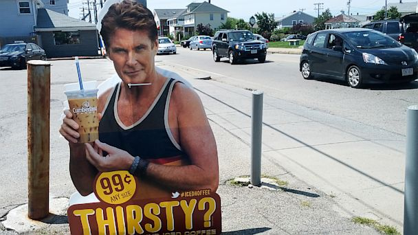gty david hasselhoff iced coffee sign ll 130821 16x9 608 Thefts of Hasselhoff Cutouts No Laughing Matter