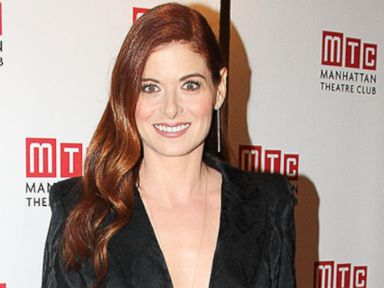PHOTO: Debra Messing, left, attending the premiere of Smash in New York City on Jan. 26, 2012 and right, attending the Broadway opening of Outside Mullingar on Jan. 23, 2014 in New York.